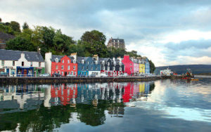 Écosse sur le bord de la mer