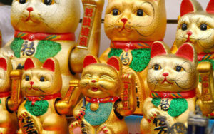 Maneki Neko -Statue traditionnel japonaise