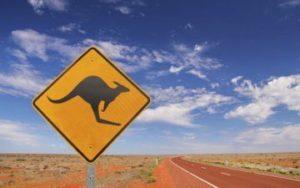 Desert centre rouge de l'Australie