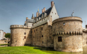 Chateau de Nantes en France