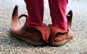Chaussure de troll scandinave