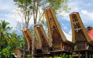 Maison à Toraja en Indonésie