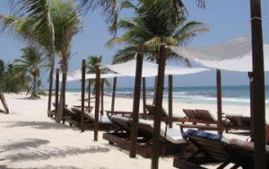 Plage Tulum à Riviera Maya Mexique