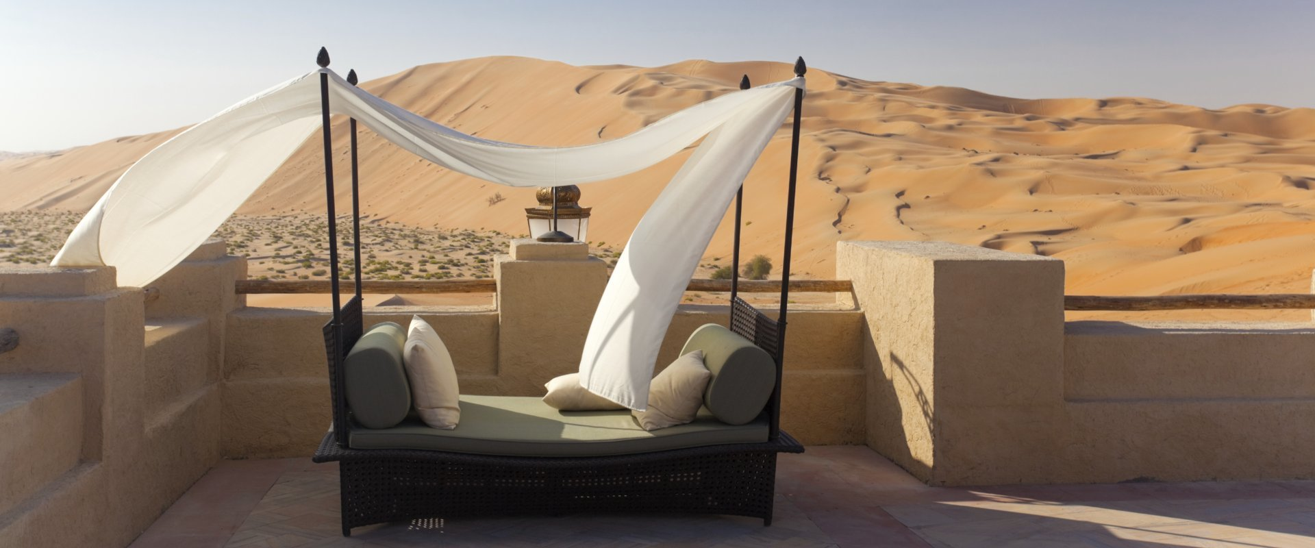 luxury bed in the desert