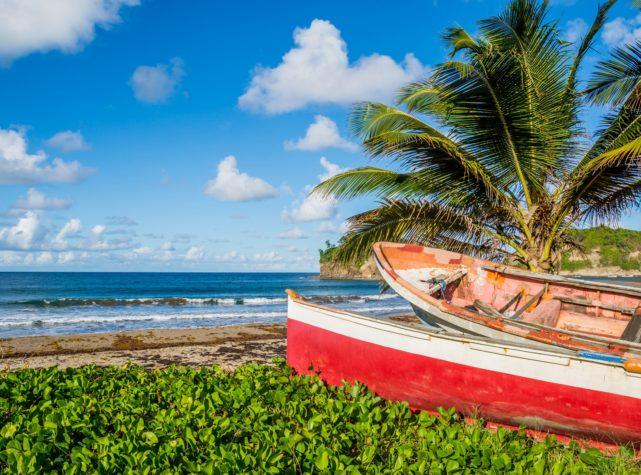 Martinique plage Caraïbes tombolo
