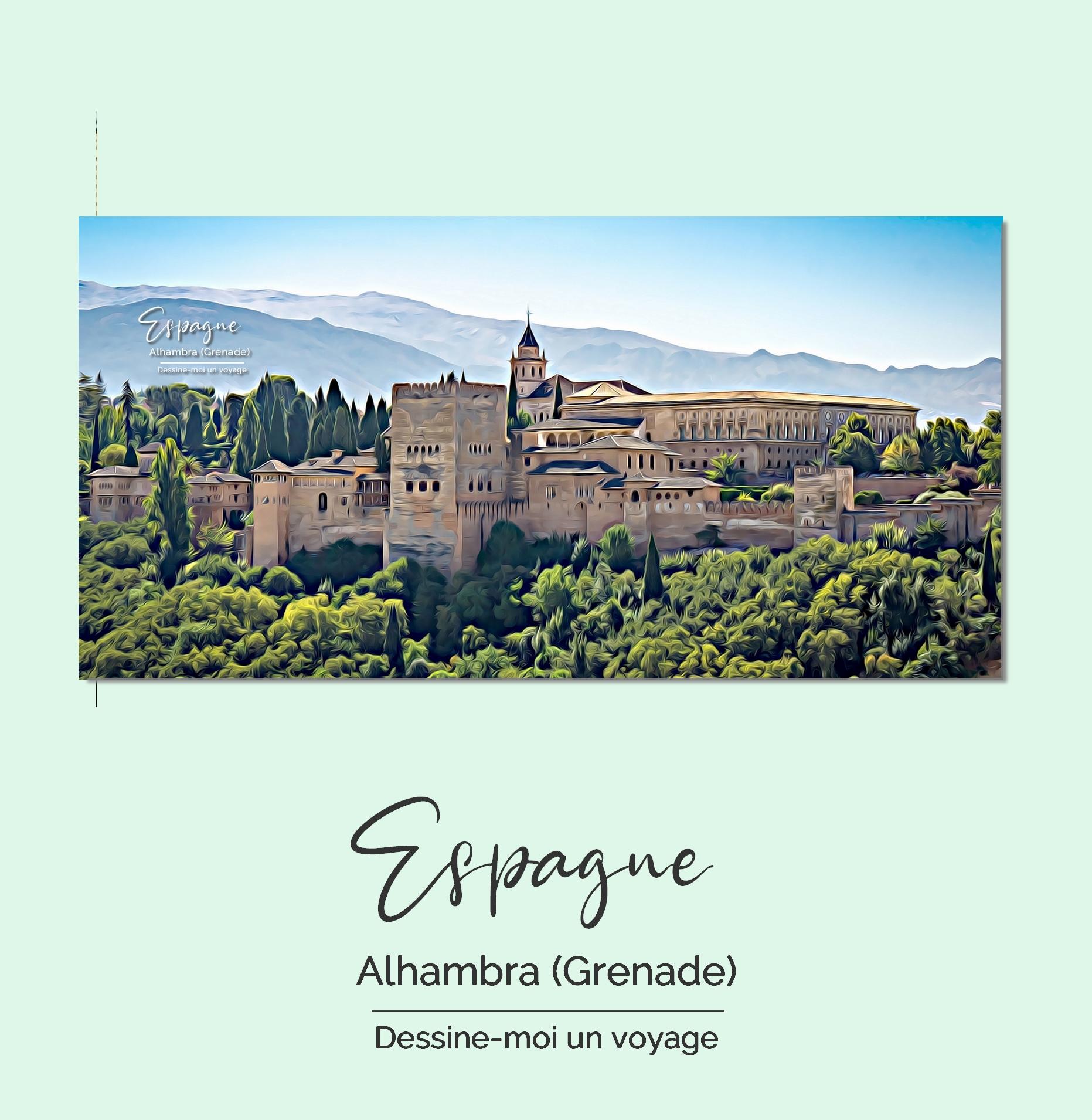 Tableau personnalisé panoramique Espagne