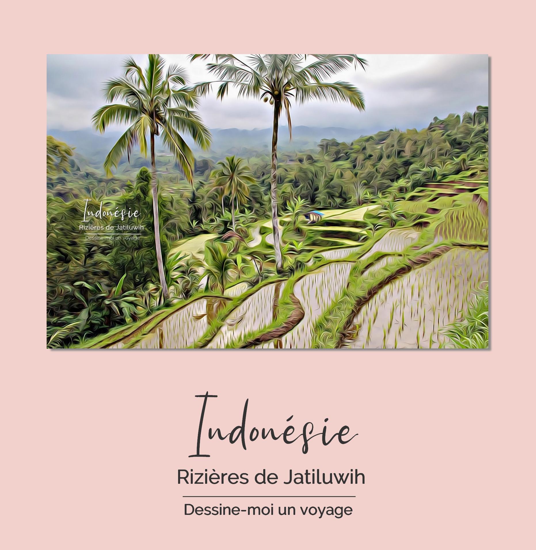 Tableau personnalisé paysage Indonésie