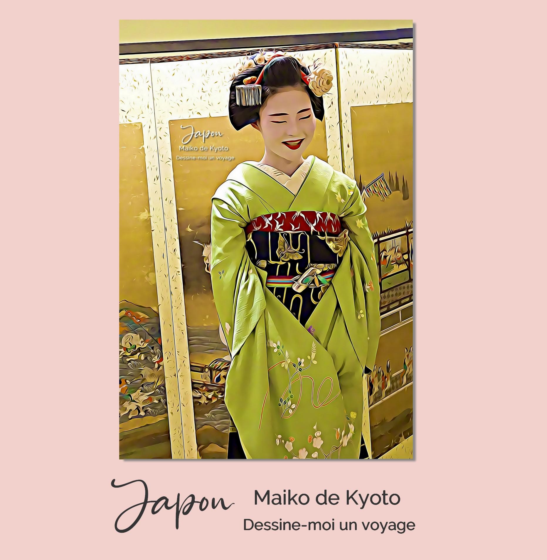Tableau personnalisé portrait Japon