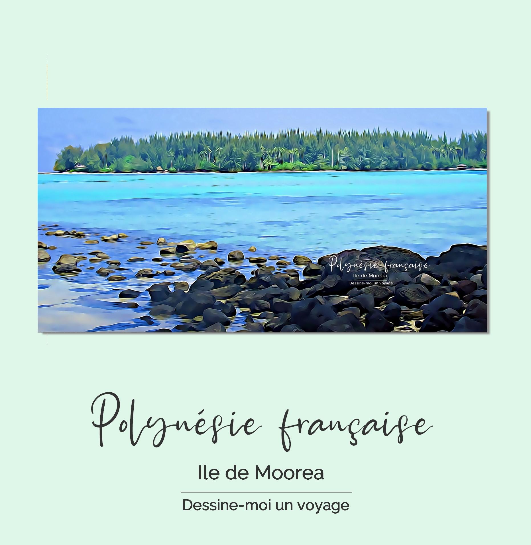 Tableau personnalisé panoramique Polynésie française