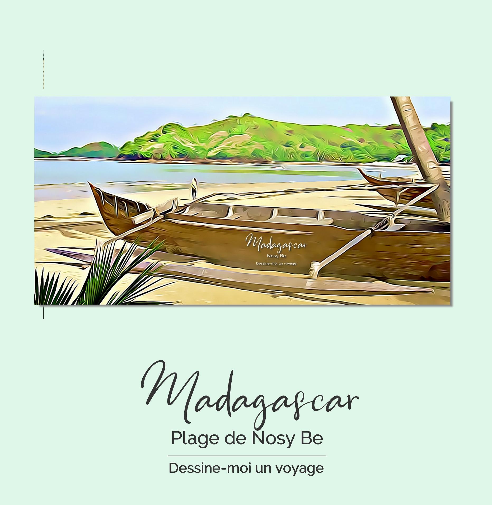 Tableau personnalisé panoramique Madagascar