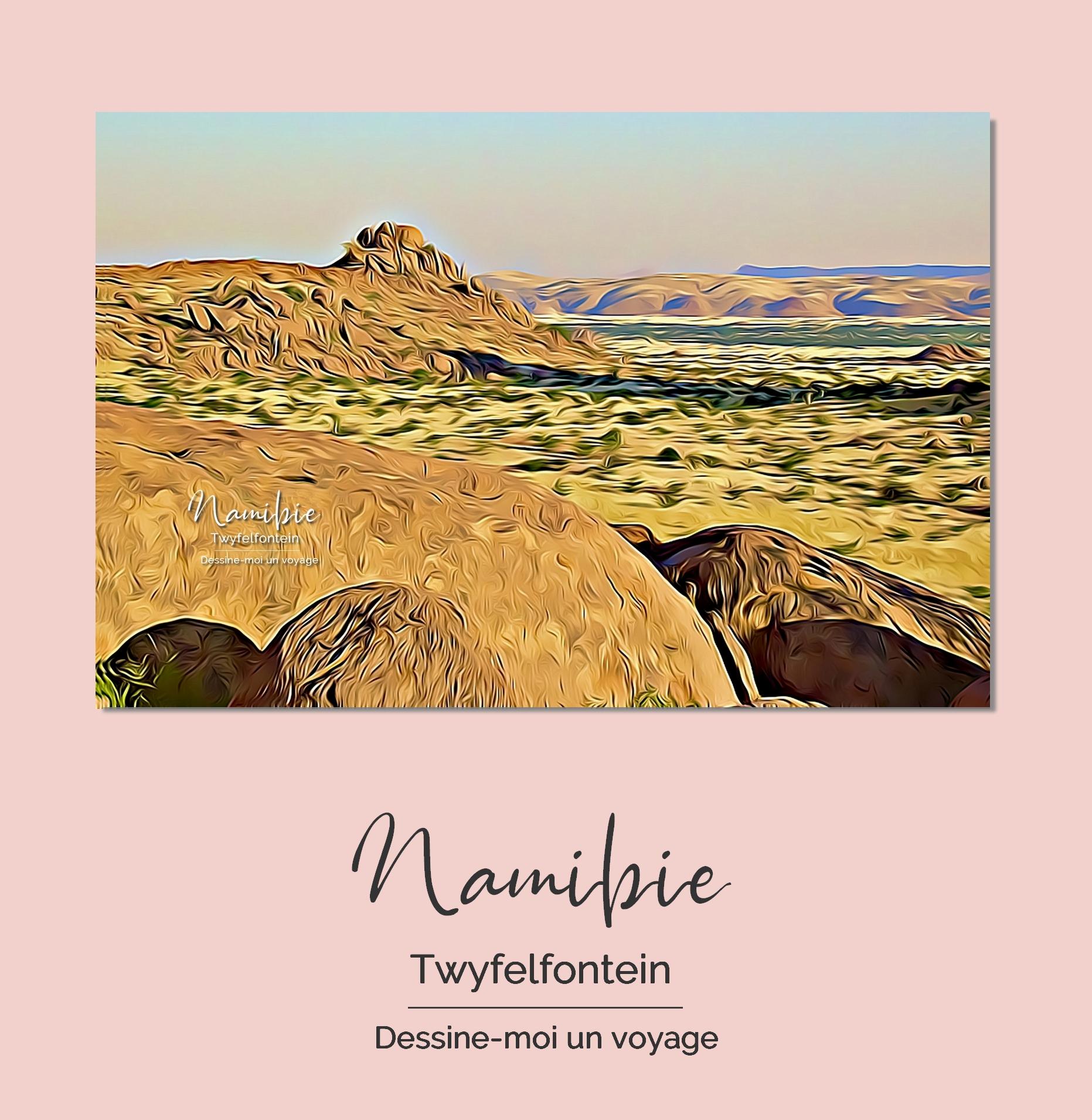Tableau personnalisé paysage Namibie