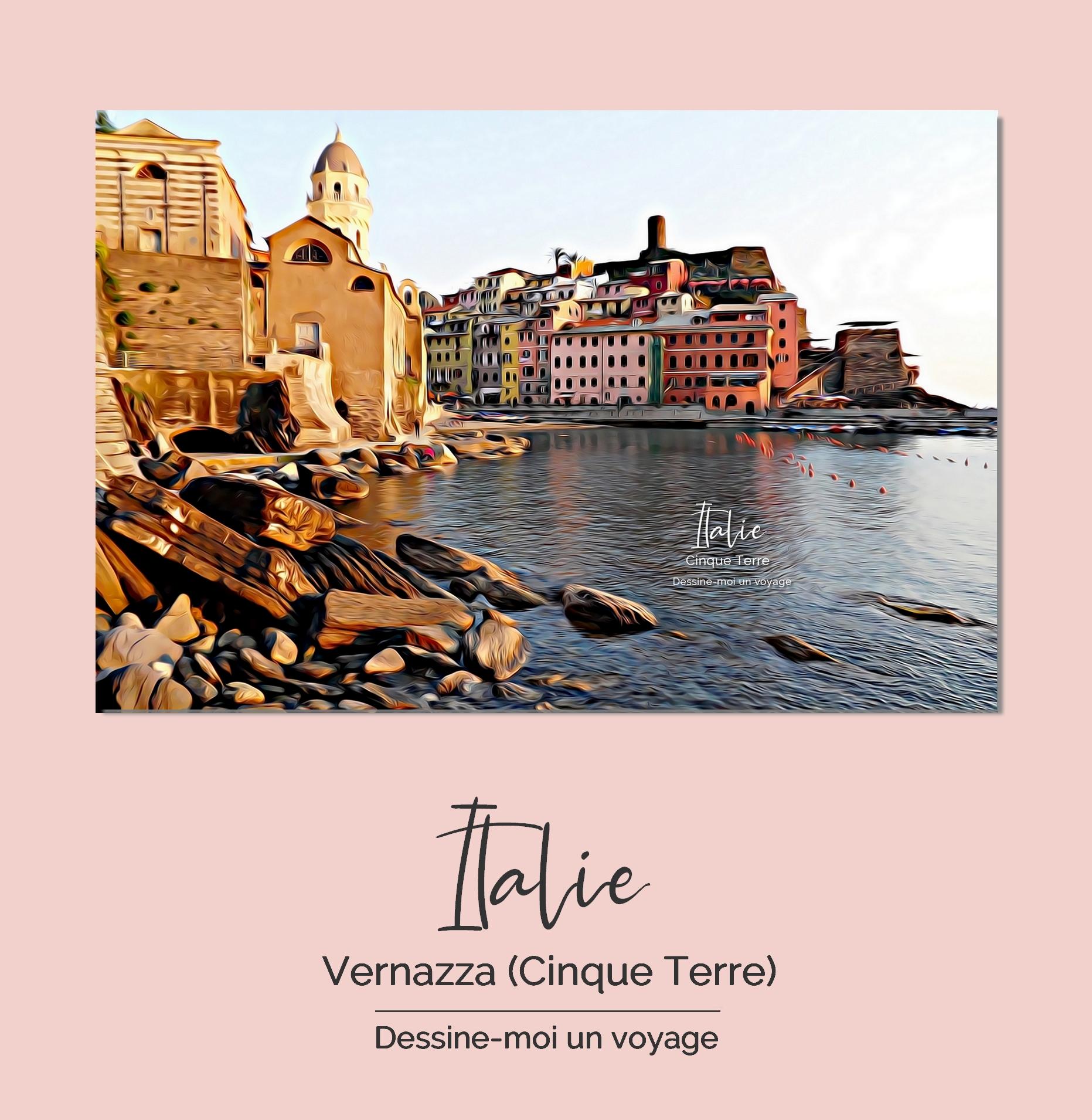 Tableau personnalisé paysage Italie